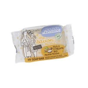 SECRETS DE PROVENCE JABON PASTILLA ACEITE DE ARGAN BIO&PERFUME ALMOND NUT