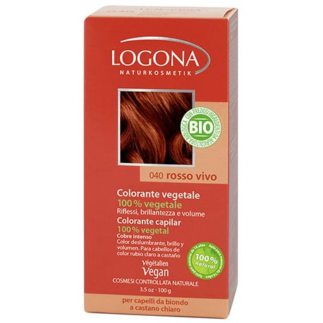 Logona Tinte Colorante Vegetal Color Cobre Intenso 040 100gr