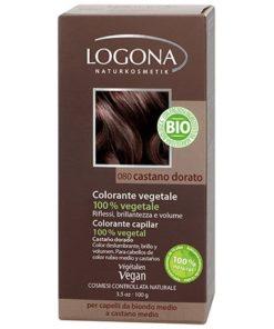 Logona Tinte Colorante Vegetal Color Castaño Dorado 080 100gr