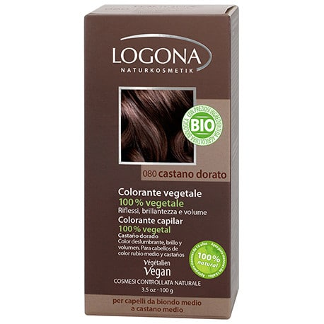 Logona Tinte Colorante Vegetal Color Castaño Dorado 080 100gr
