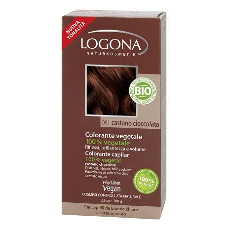 Logona Tinte Colorante Vegetal Color Castaño Chocolate 091 100gr