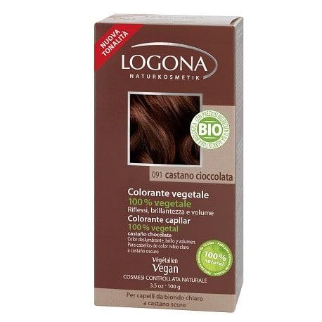 Logona Tinte Colorante Vegetal Color Castaño Cafe 092 100gr