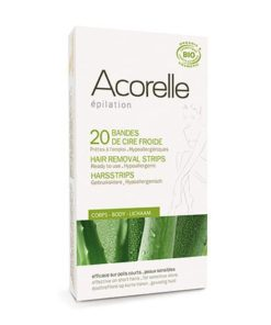 Acorelle Cold Wax Body Bands 20uds