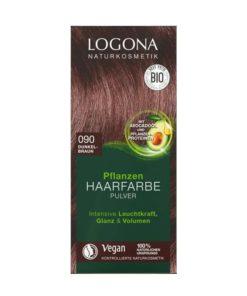 Logona Tinte Colorante Vegetal Color Castaño Oscuro 090