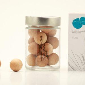 Bolas madera aromáticas, Pino Silvestre, Ecológicas 14uds