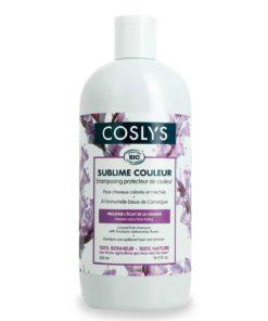 リモニウムの花とCoslys色髪色シャンプー