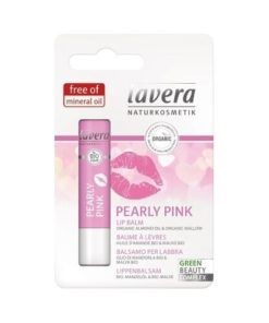 Lavera Pearly Pinky Lip Balm with Almond Oil and Mallow BIO