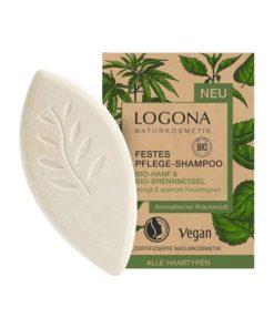 Čvrsti šampon Logona s konopljom i koprivom