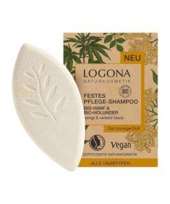 Čvrsti šampon Logona s konopljom i bazgom
